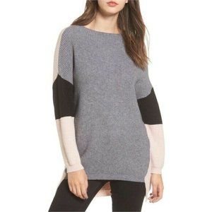 Dreamers By Debut Color block Sweater Gray Pink